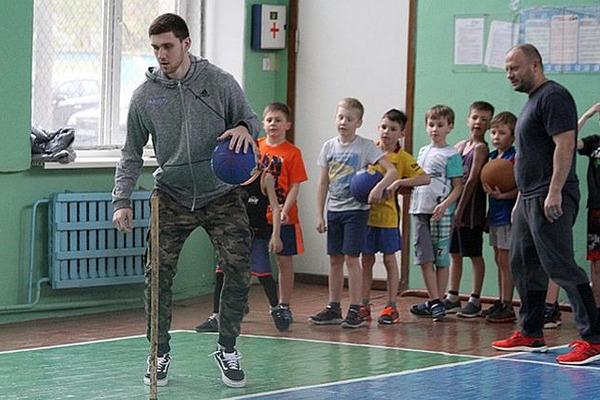 Як Михайлюк з дітьми тренувався