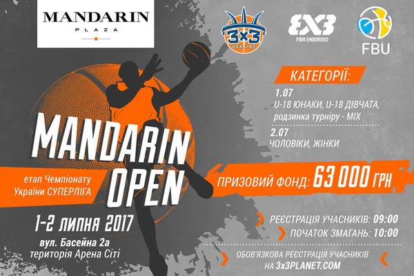 У Києві відбудеться турнір з баскетболу 3х3 Mandarin Open