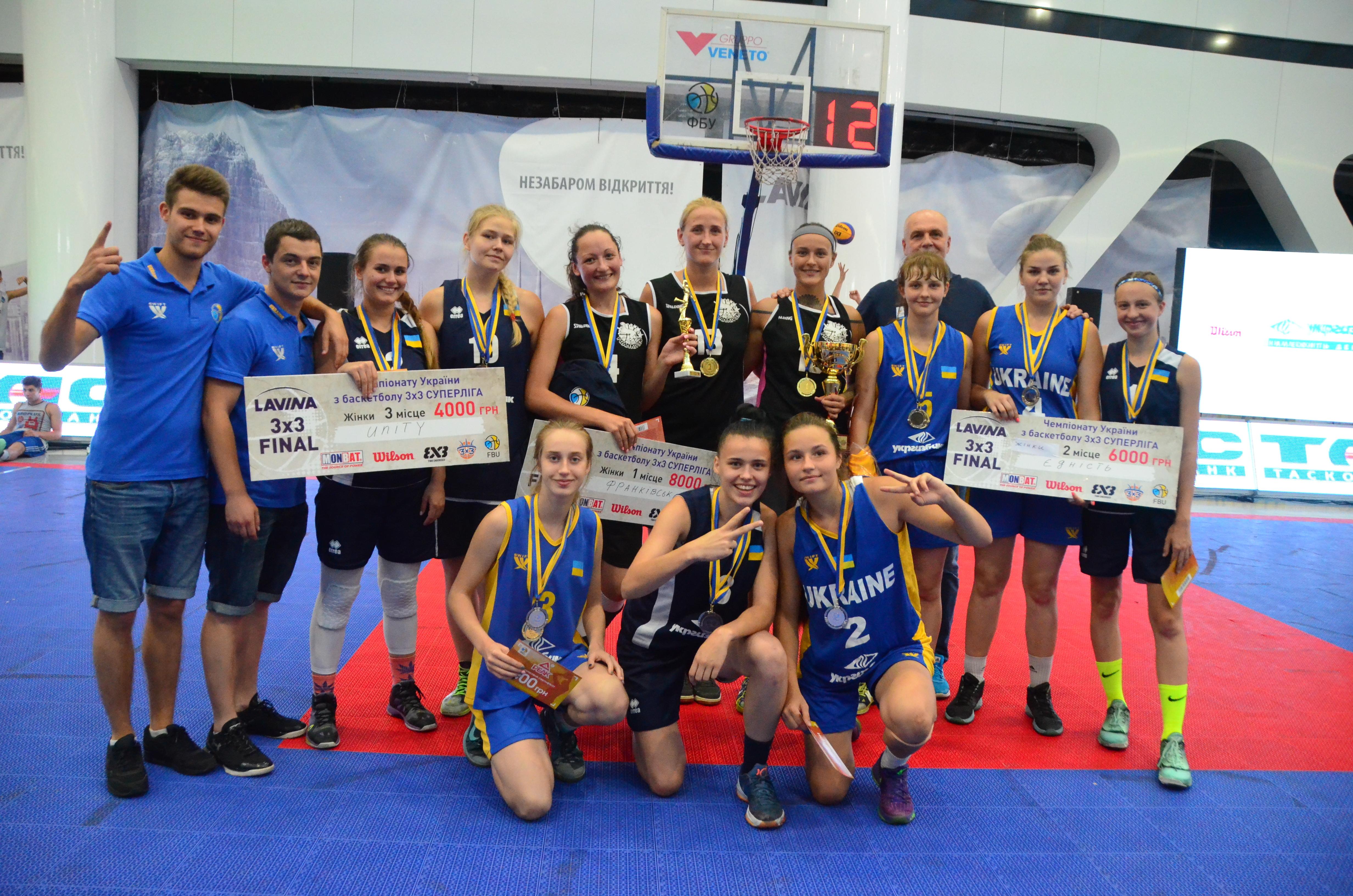 Визначилися переможці і призери Чемпіонату України з баскетболу 3х3