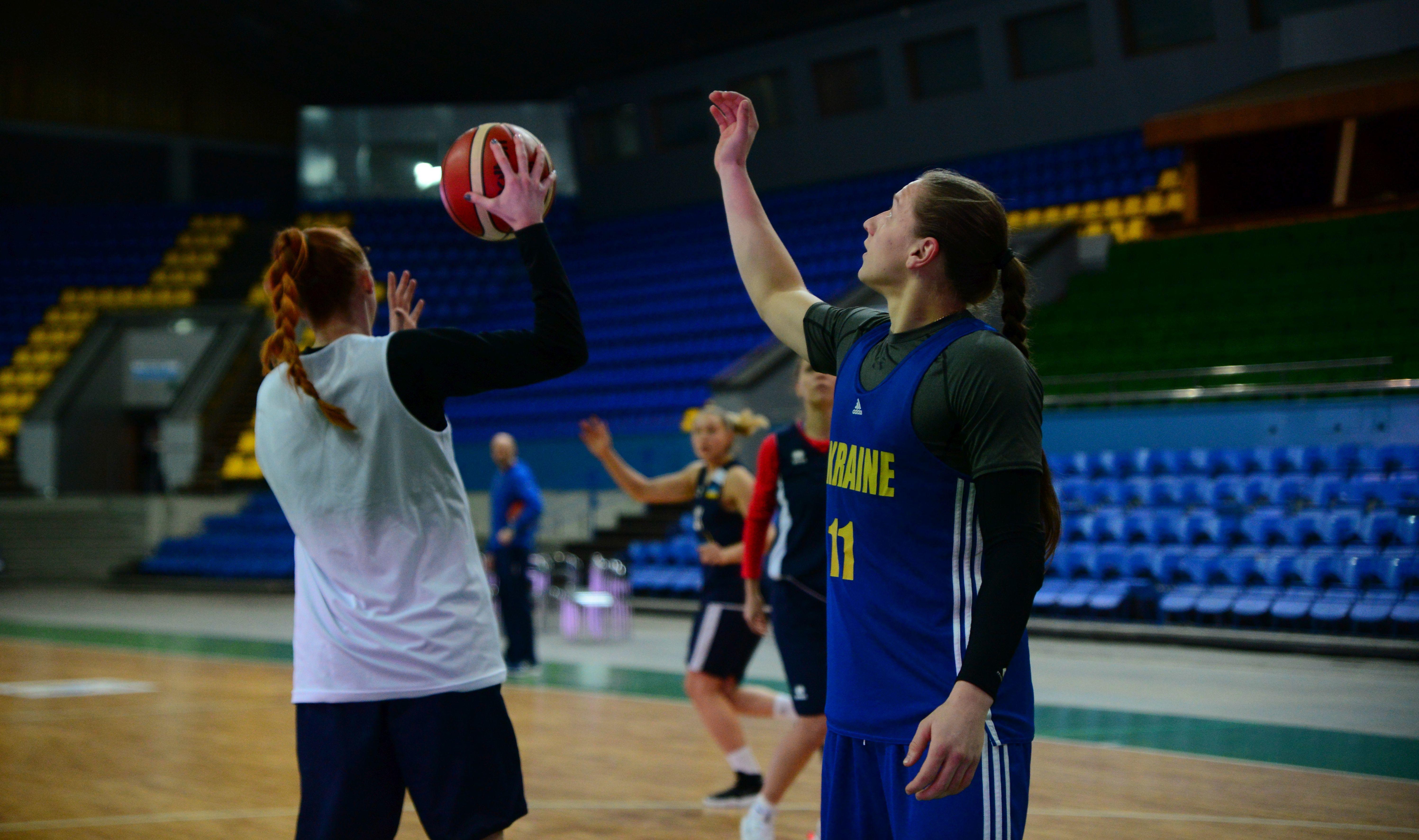 Збірна України: передматчеве тренування у Палаці спорту