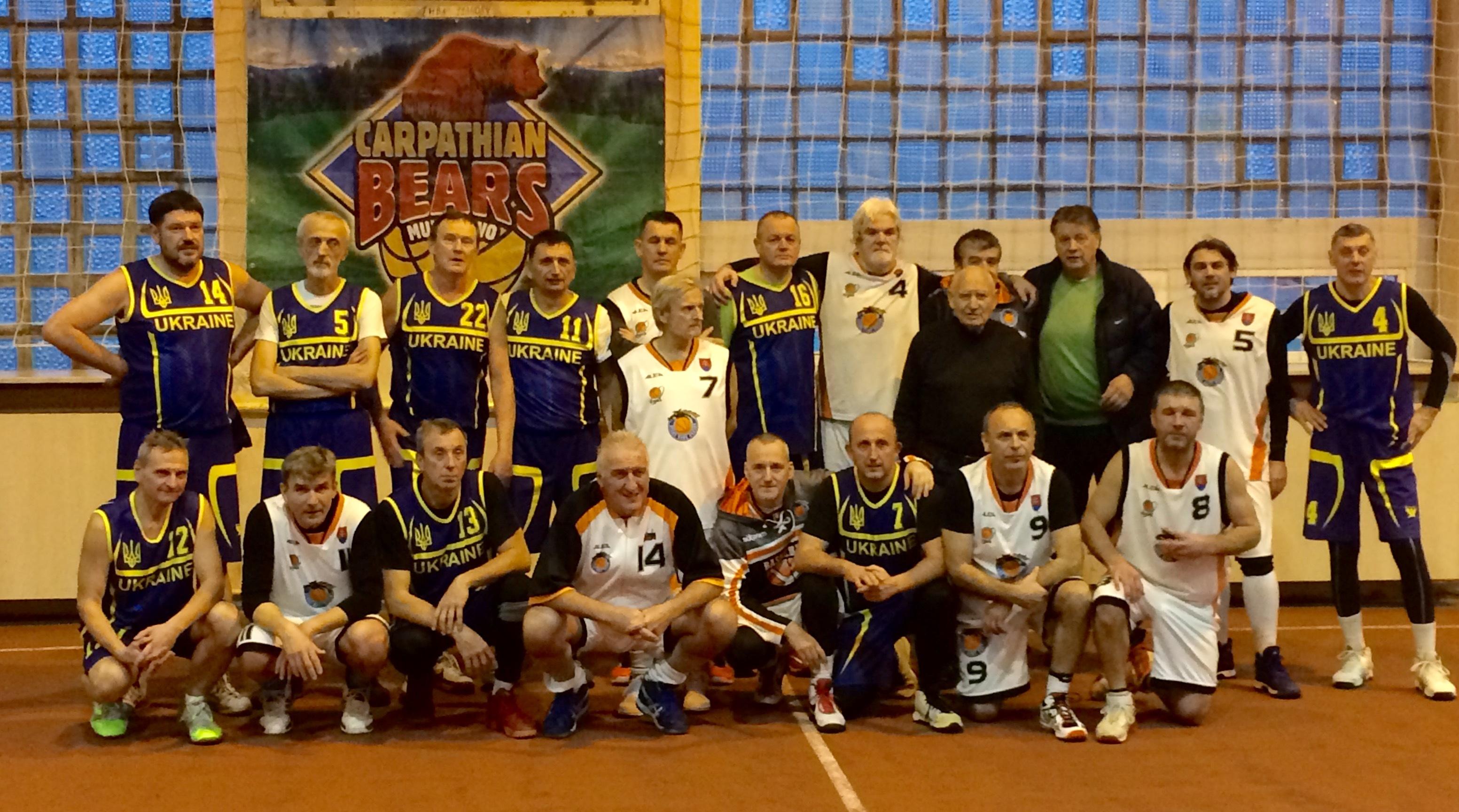 Ветерани у Мукачево: різдв'яний турнір чотирьох країн