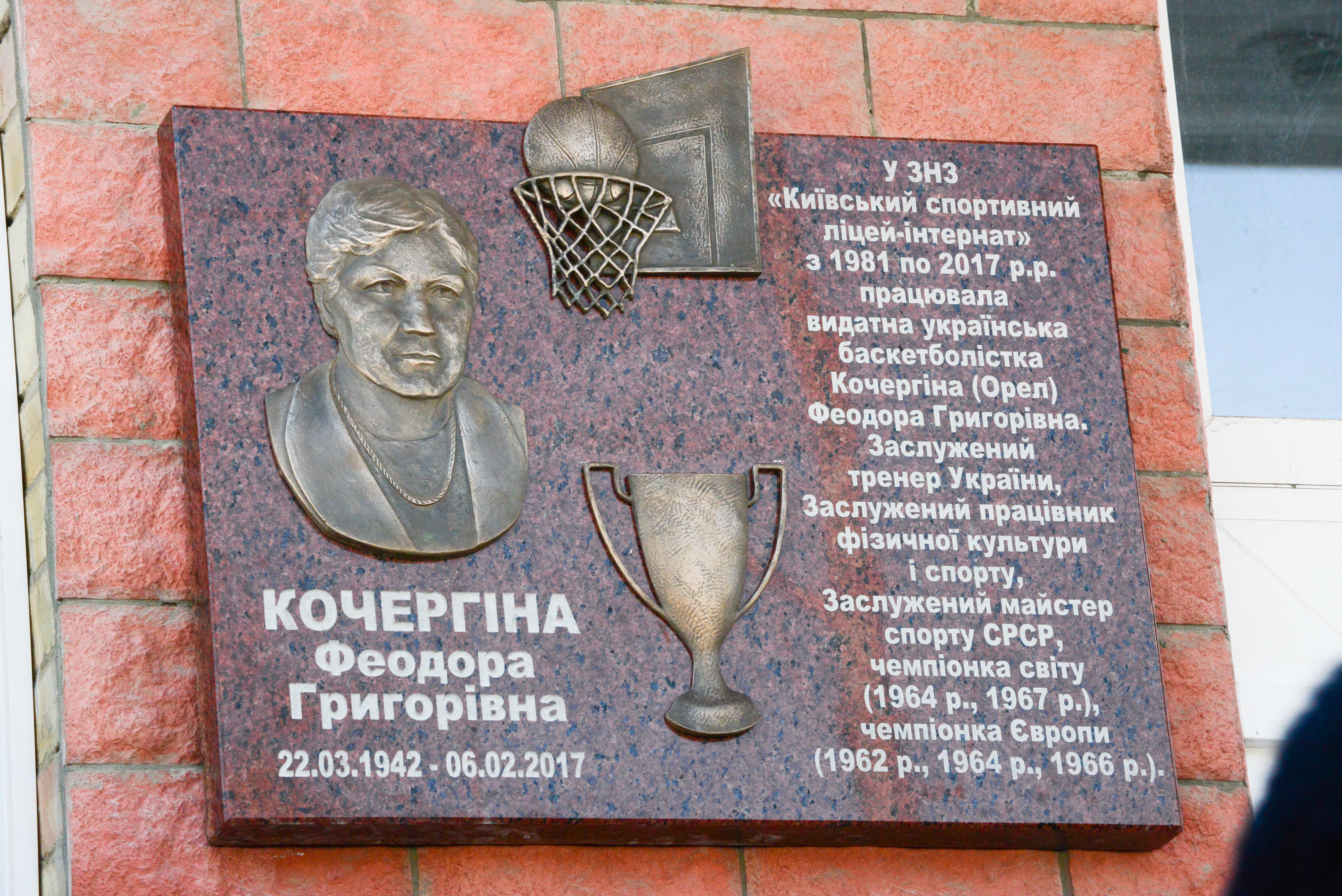 Баскетболістки збірної України вшанували пам'ять Феодори Кочергіної