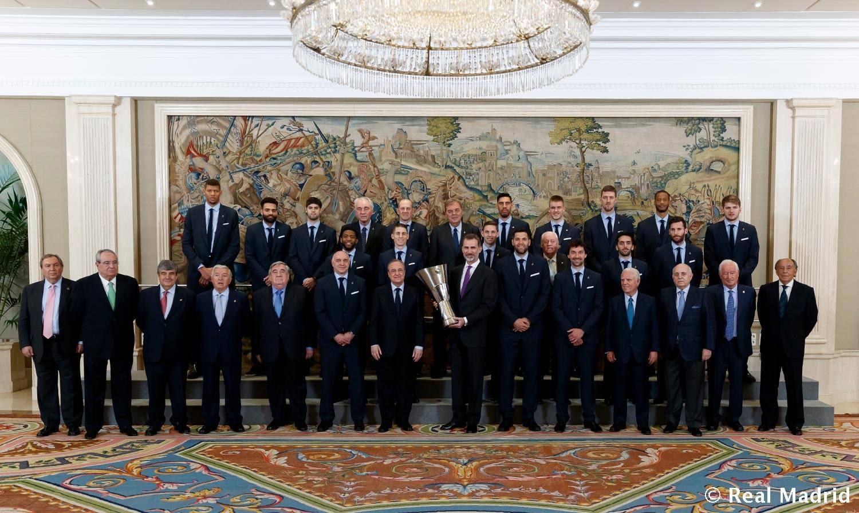 Король Іспанії прийняв Реал після перемоги в Євролізі: фото