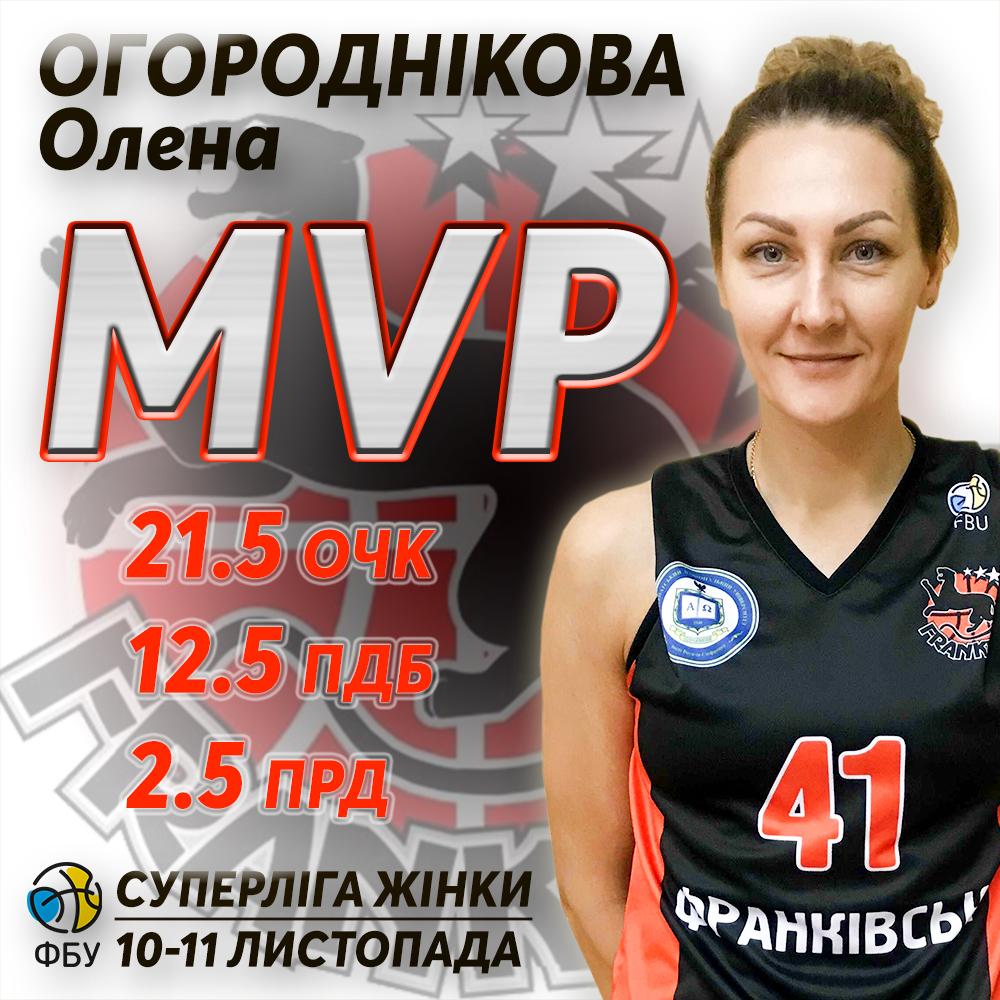 Олена Огороднікова – MVP тижня жіночої Суперліги