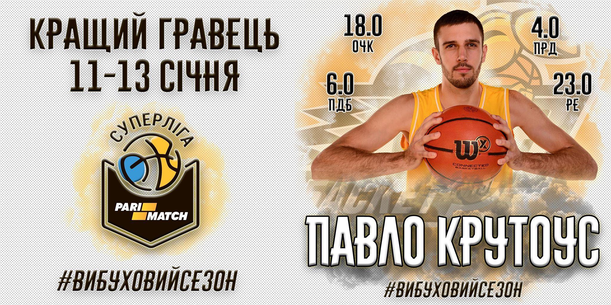 Гравець збірної України став MVP тижня у Суперлізі Парі-Матч
