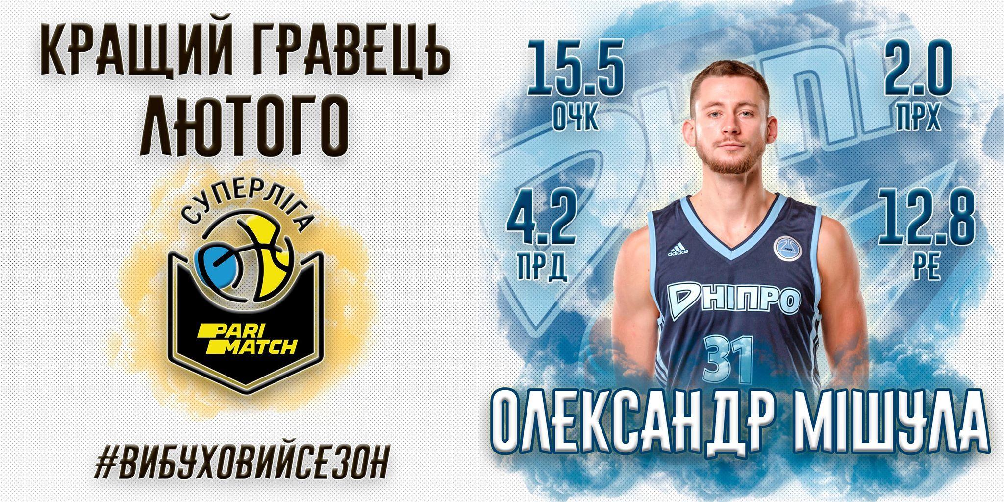 Найціннішим гравцем лютого у Суперлізі Парі-Матч став баскетболіст збірної України