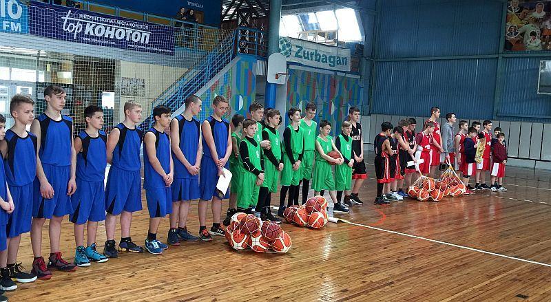 Юні баскетболісти Сумщини отримали м'ячі від ФБУ