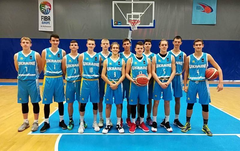 Украинская баскетбольная команда U-16 начала свой путь на европейских состязаниях