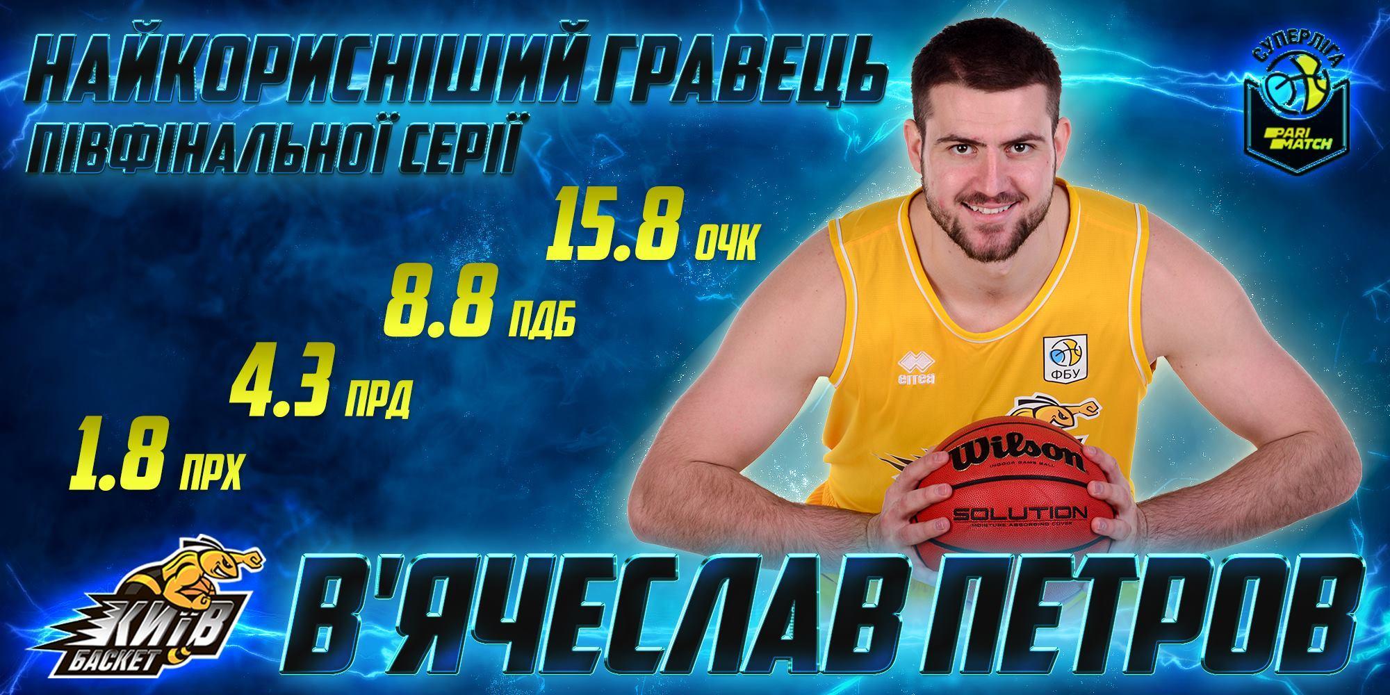 В'ячеслав Петров — найкращий гравець півфінальої серії Суперліги Парі-Матч