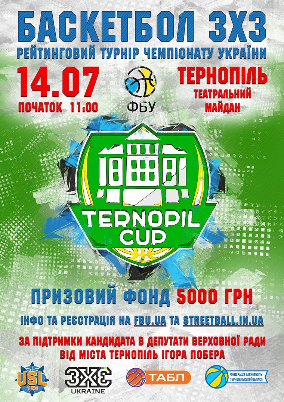 14 липня в Тернополі пройде турнір з баскетболу 3х3