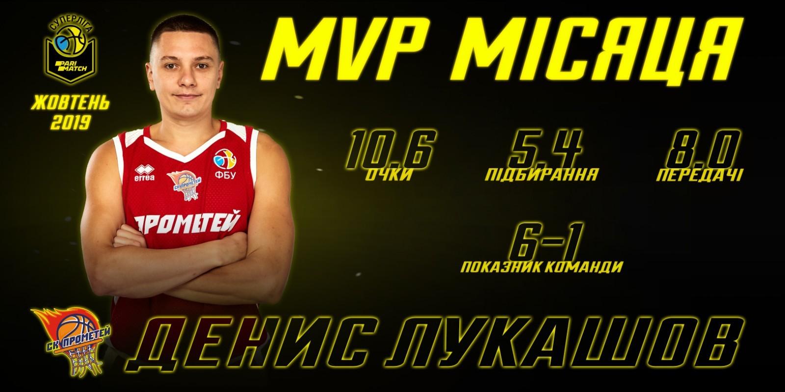 Денис Лукашов – найкращий гравець жовтня