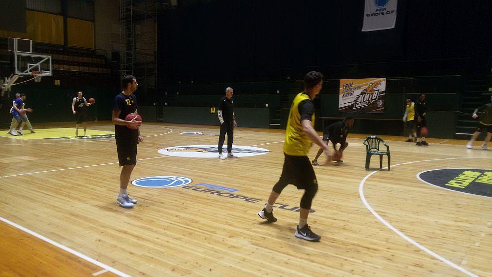 Киів-Баскет провів тренування перед матчем Кубка Європи