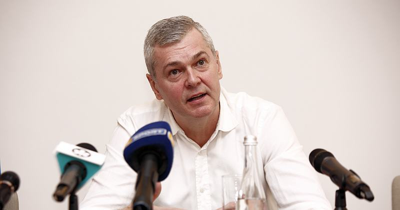 Тренер збірної України поспілкувався з журналістами: фотогалерея