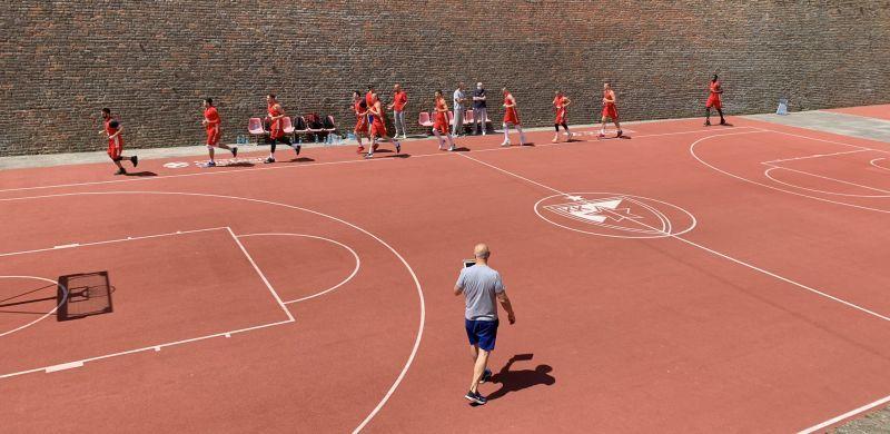 Сербські баскетболісти потренувалися в фортеці: фотогалерея
