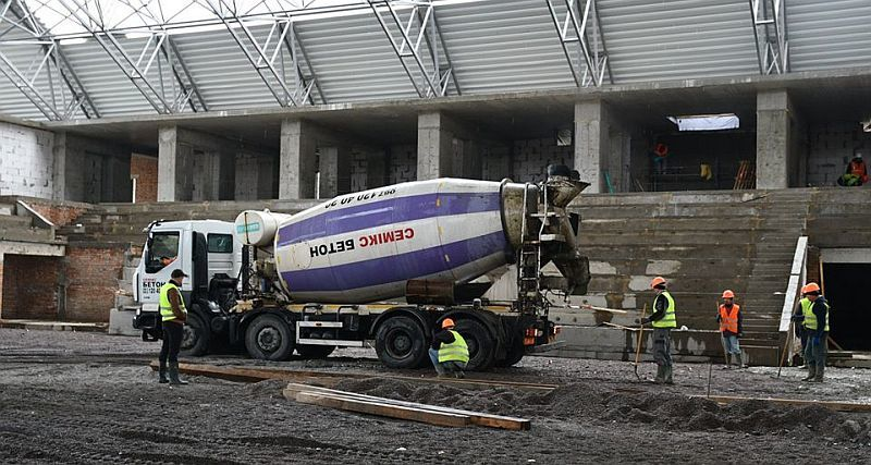 Будівництво Палацу спорту в Рівному вийшло на новий етап: фотогалерея
