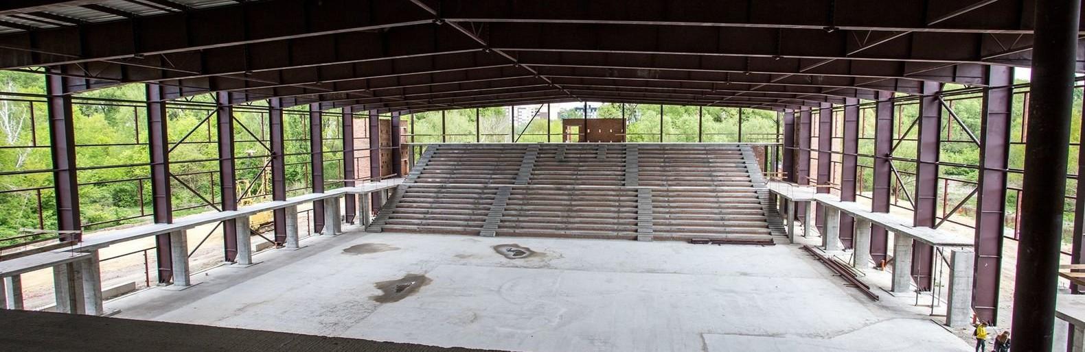 На будівництві нового Палацу спорту в Хмельницькому виконали половину робіт