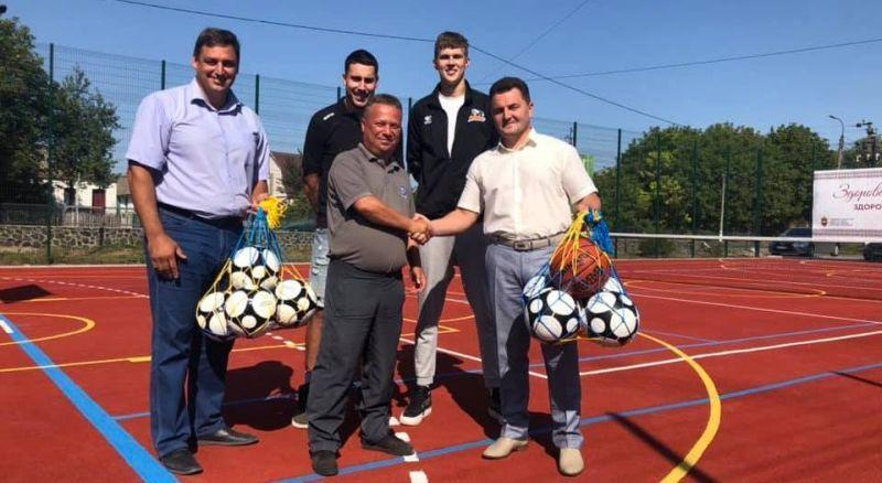 На Черкащині відкрили новий спортивний майданчик
