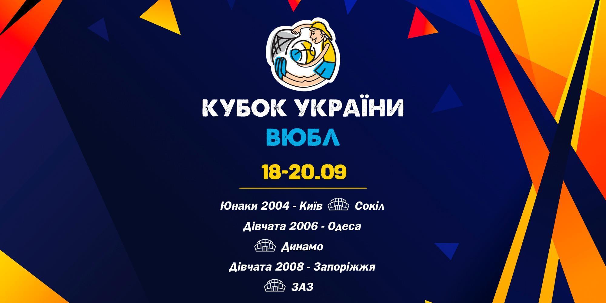 Кубок ВЮБЛ: 18 вересня стартують три етапи