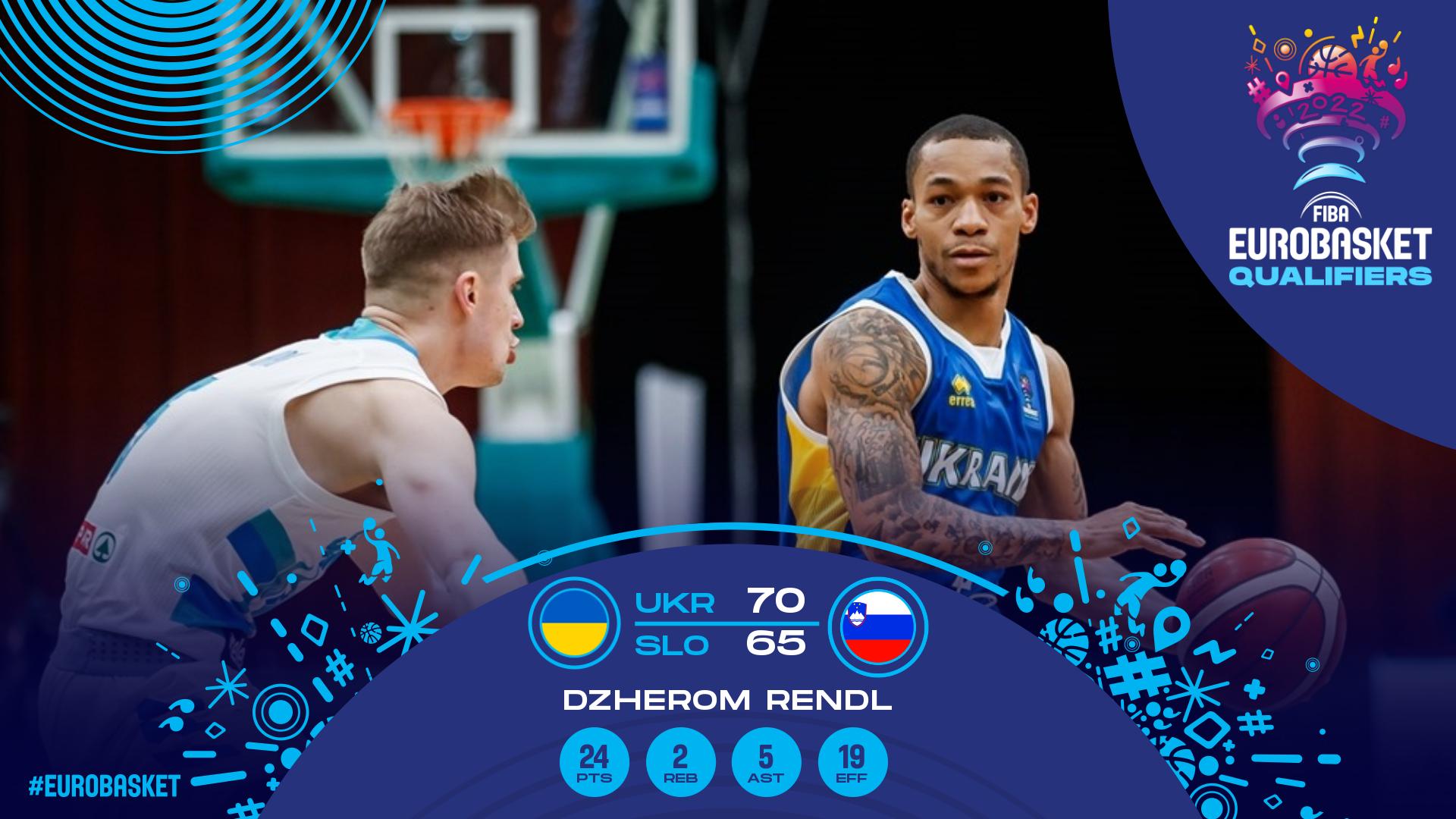 Збірна України перемогла Словенію в відборі ЄвроБаскета-2022