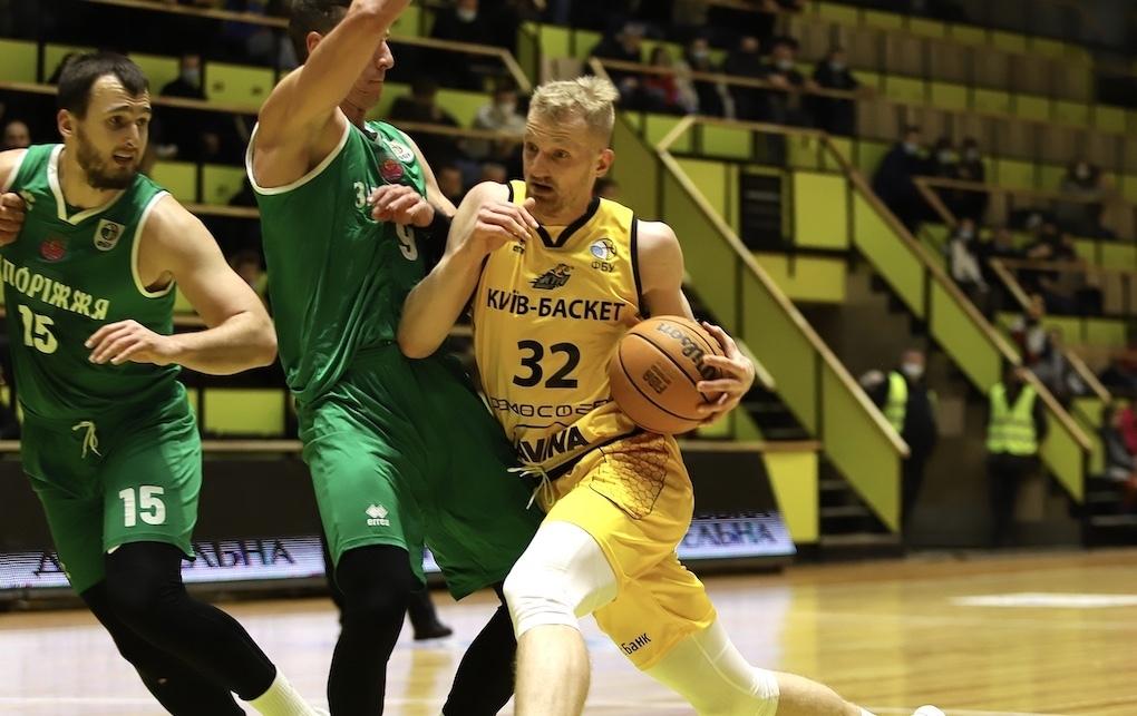 Київ-Баскет в овертаймі вирвав перемогу в Запоріжжя