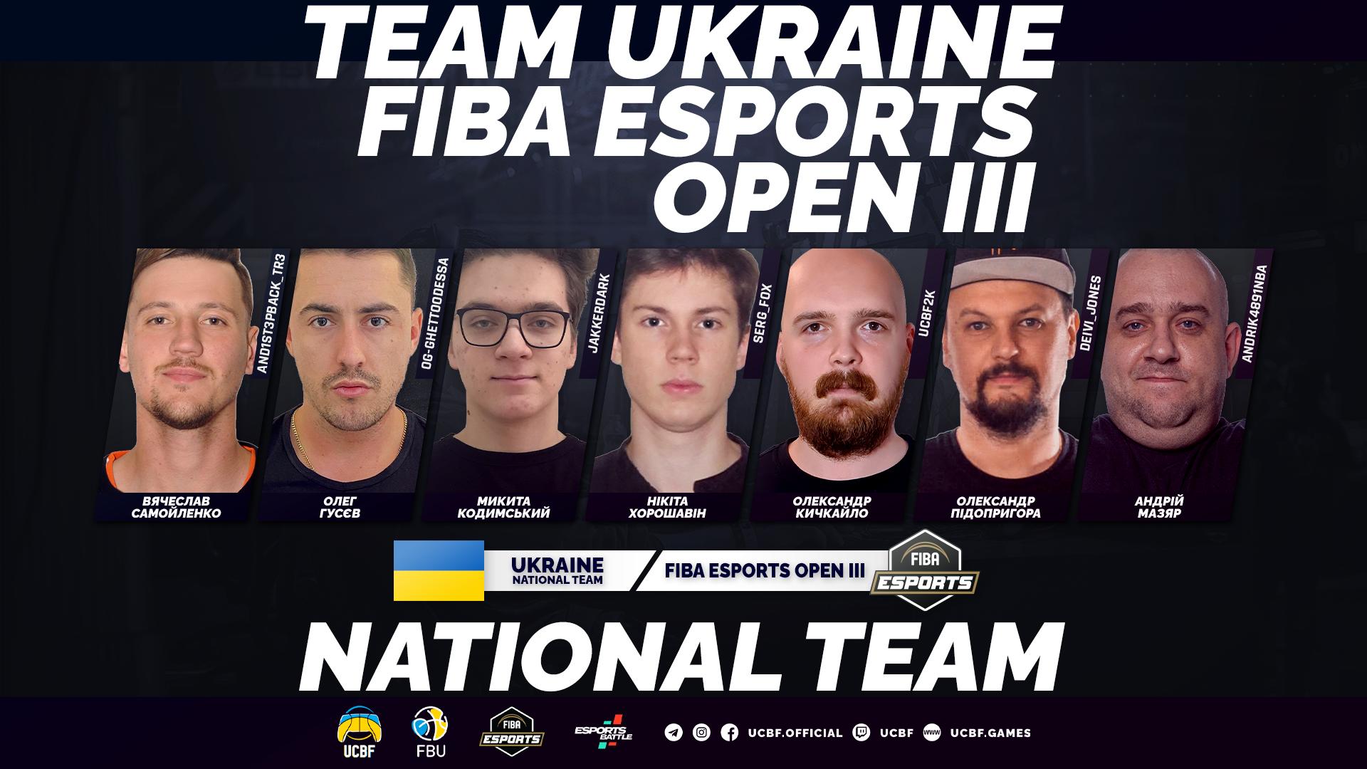 Збірна України завершила виступи на FIBA Esports Open III