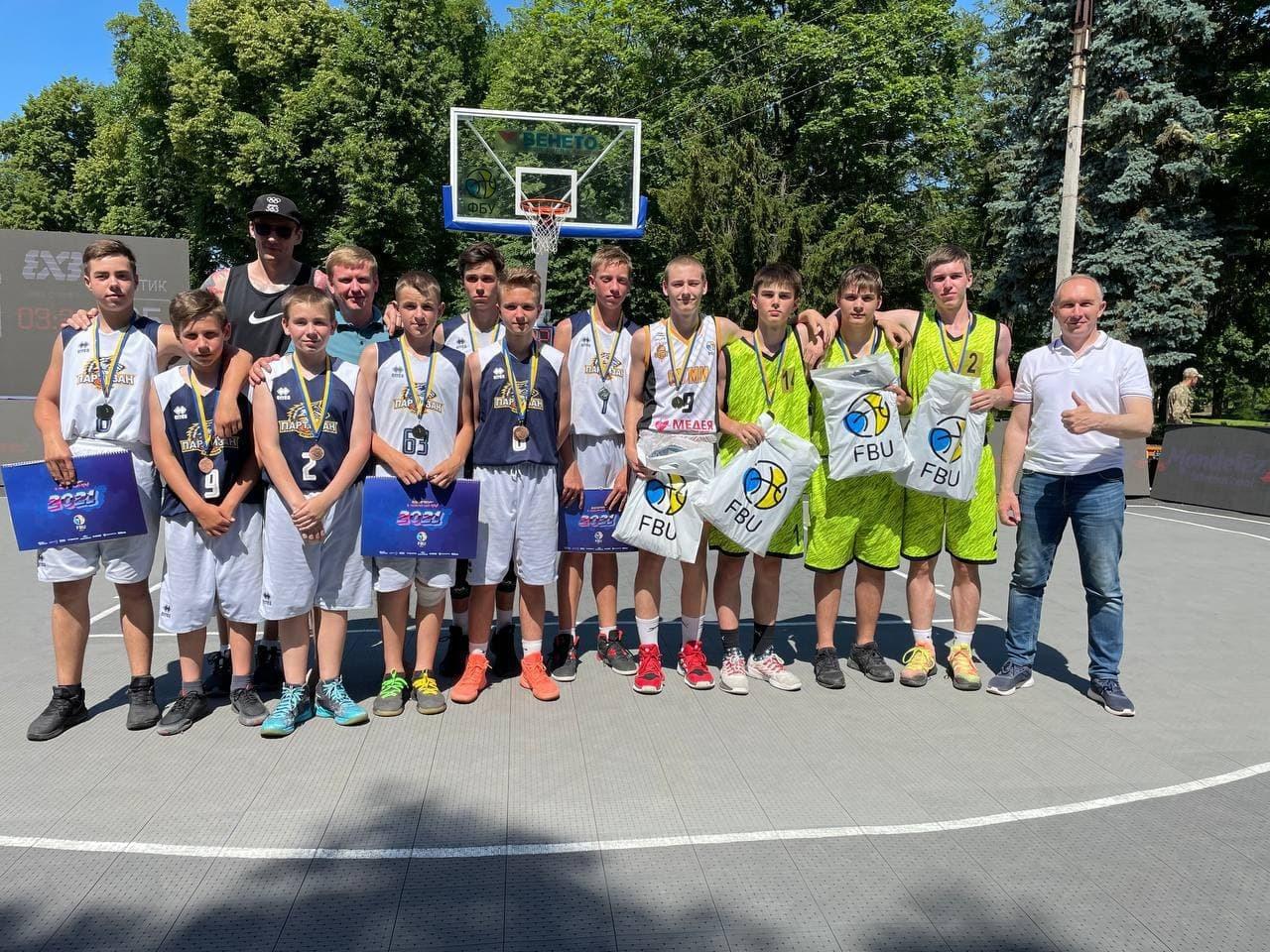 Визначилися переможці стартового етапу чемпіонату України 3х3 серед кадетів та юніорів