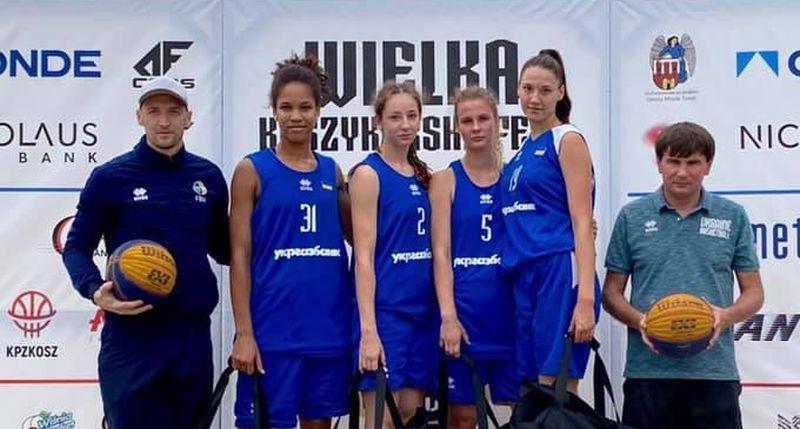 Жіноча збірна України U-17 перемогла в Польщі на турнірі з баскетболу 3х3