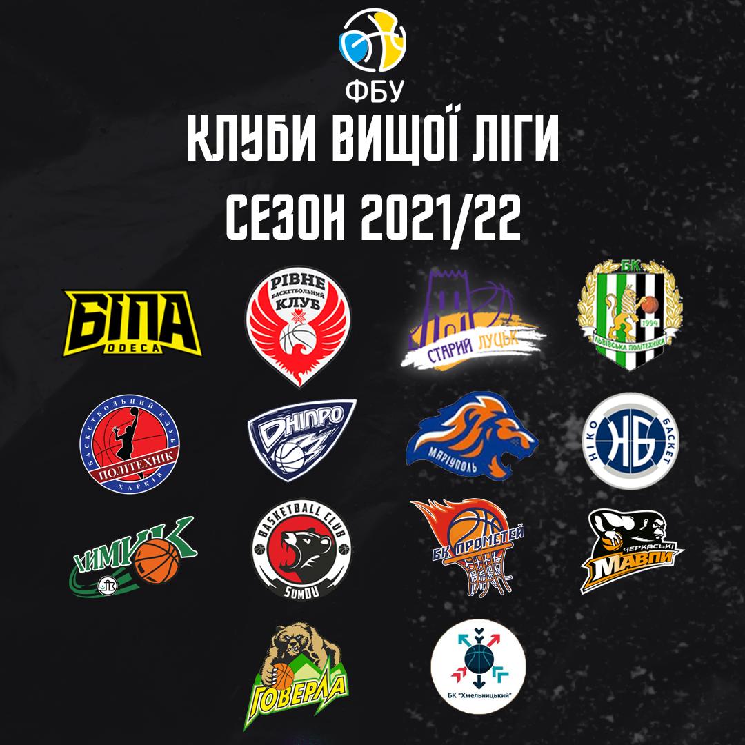 Визначився склад учасників чоловічої Вищої ліги в сезоні 2021/22