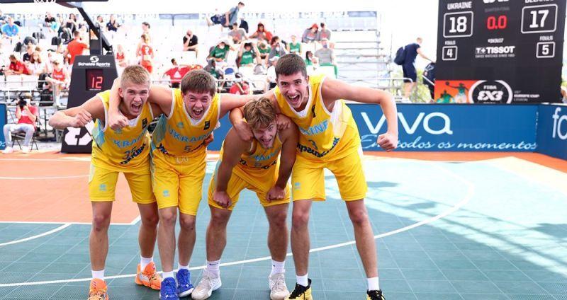 Чоловіча збірна України U-17 ефектно перемогла в чвертьфіналі чемпіонату Європи 3х3