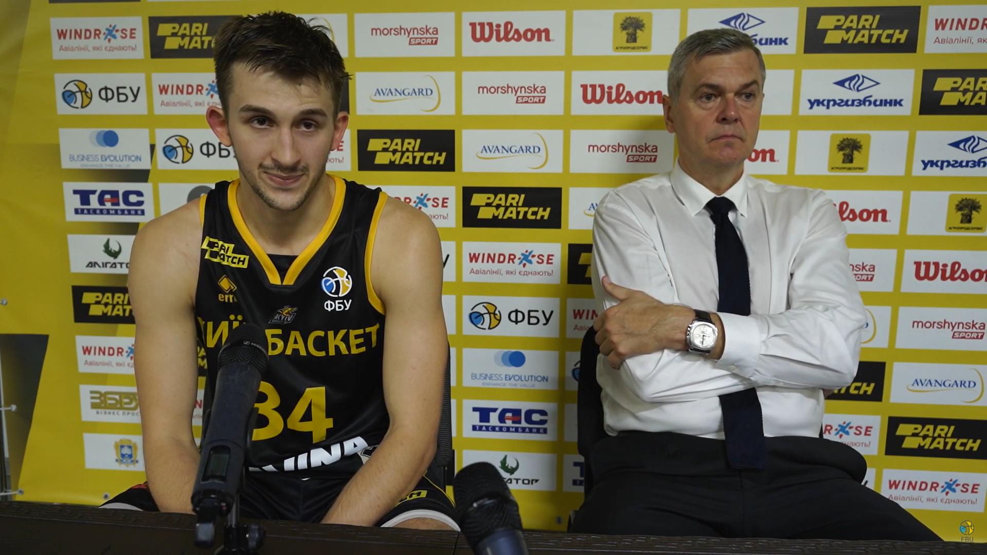 Київ-Баскет оформив першу перемогу у сезоні: пресконференція після гри з Тернополем