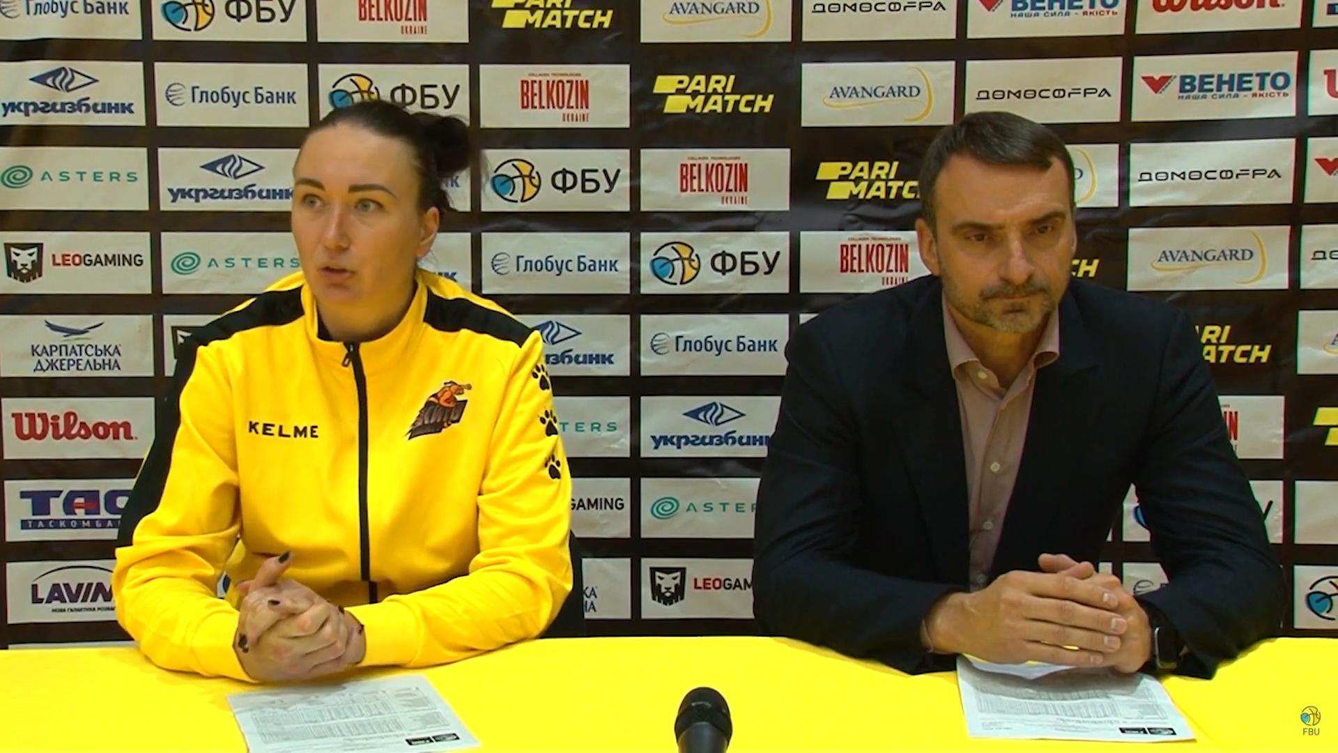 Київ-Баскет знову переграв Інтерхім: пресконференція після повторної гри жіночої Суперліги