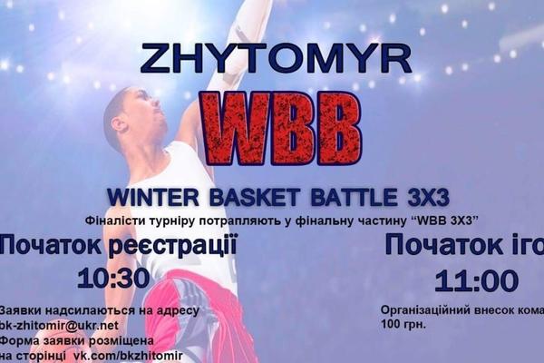 У Житомирі стартує турнір WBB