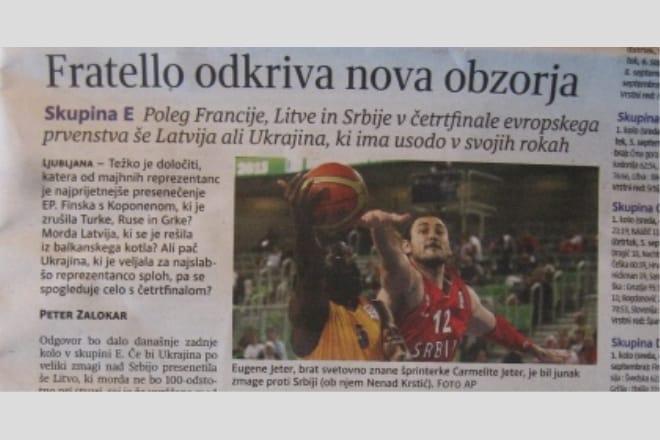 Збірна України на перших шпальтах словенських газет